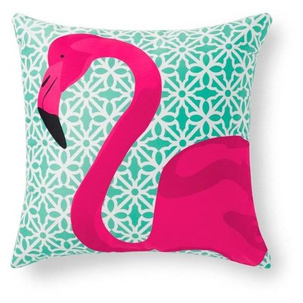 Grandin Road Pretty In Pink Flamingo Outdoor Pillow 39 Liked