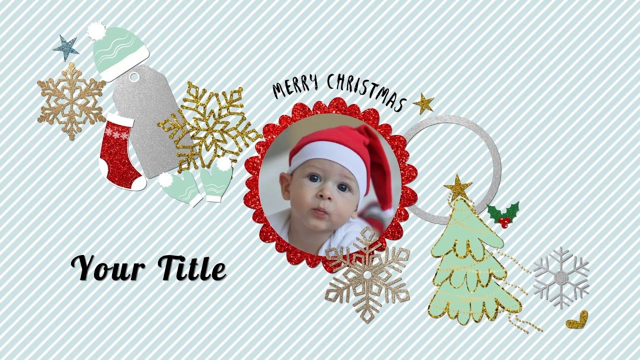After Effects Neo Glitter Scrapbook Christmas Titles