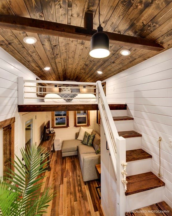 This tiny house comes with all the best big trimmings decoration living design also rh pinterest