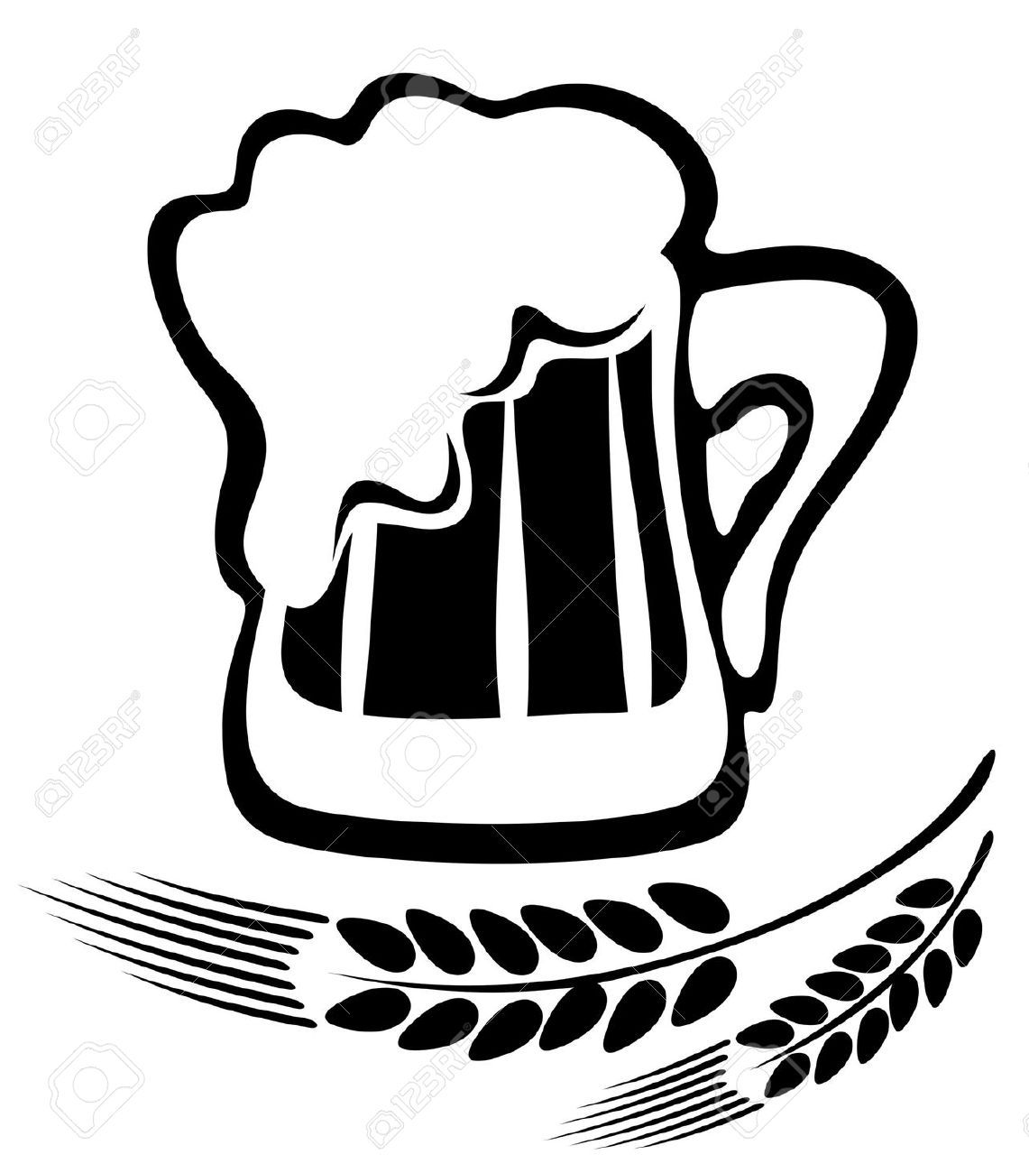 Beer Mugs Clipart Black And White Images