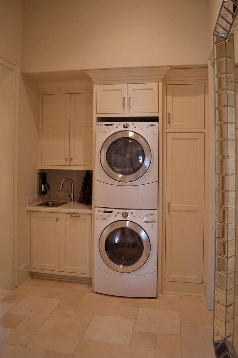 55 Inspiring Simple And Awesome Laundry Room Ideas Stacked Laundry Room Elegant Laundry Room Vintage Laundry Room