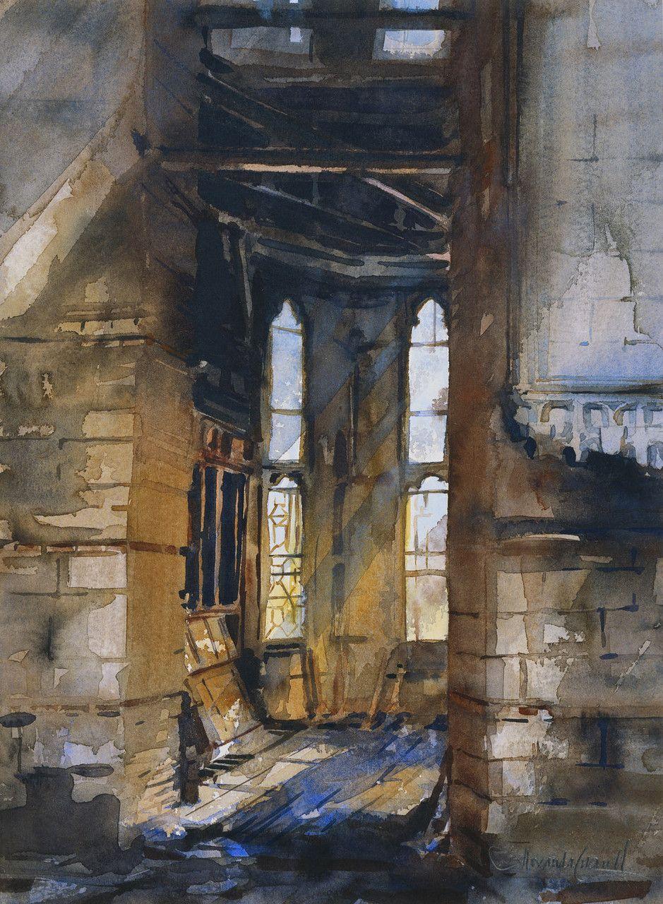 Windsor Castle: the Stuart Room, after the fire   Работы ...