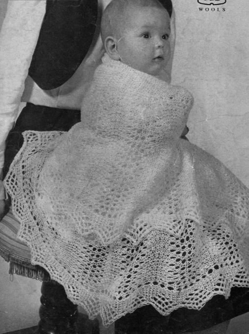 cab096a64 PDF Knitting PATTERN - Two Baby Shawls 2ply lace weight - Heirloom ...