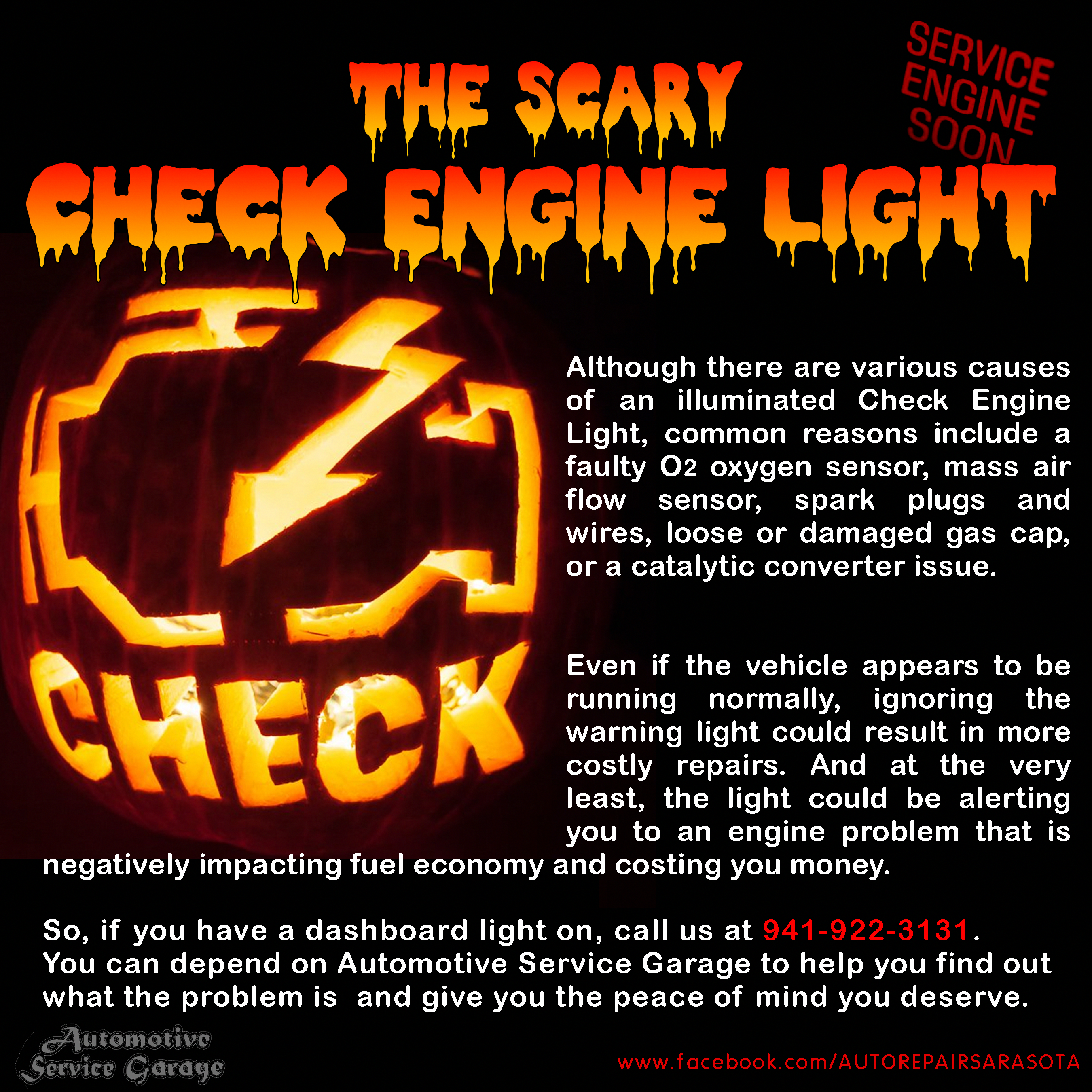 Do you have a scary dashboard warning light on? Give us a