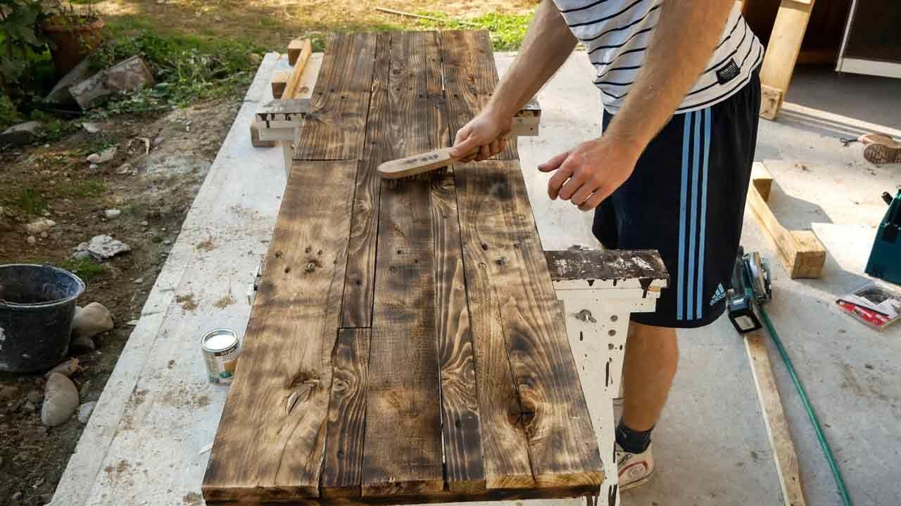 Paletten Holz Altern Lassen Abflammen Holz