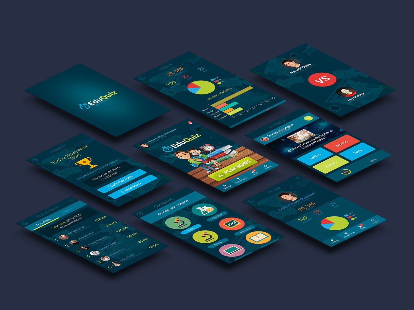Quiz App for Students Mobile UI/UX Design on Behance
