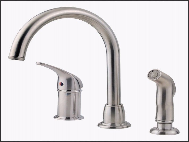 Beautiful Single Handle Kitchen Faucet With Separate Sprayer