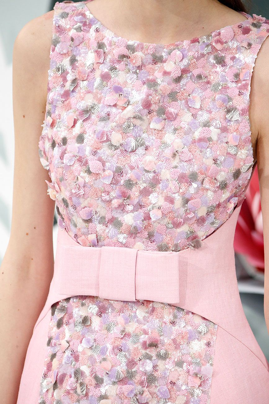 Chanel #couture SS15 | Pink outfits | Pinterest | Vestiditos, Chanel ...