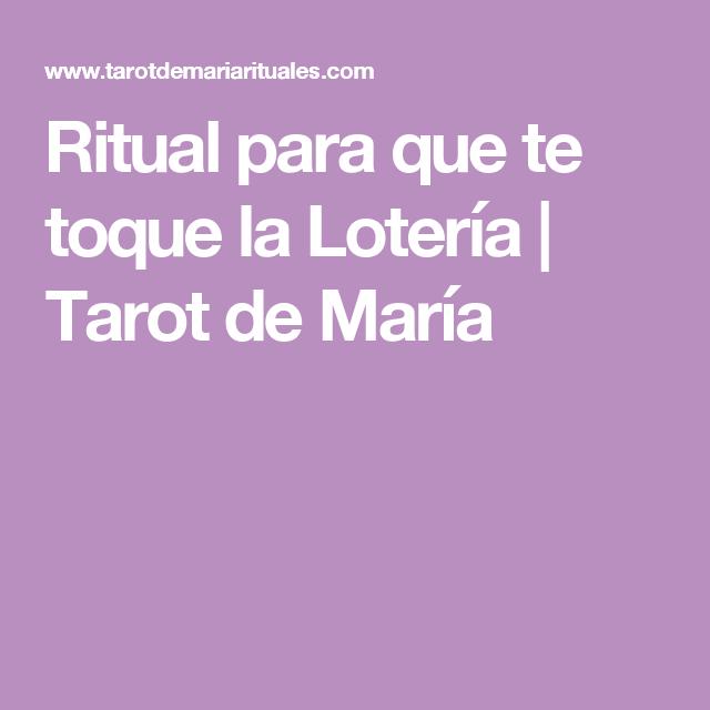 Ritual Para Que Te Toque La Lotería Tarot De María Ritual Lotería Amuletos Para Atraer Dinero