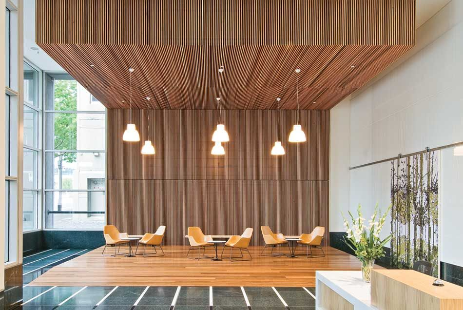 timber screening | commercial design | pinterest | lobbies