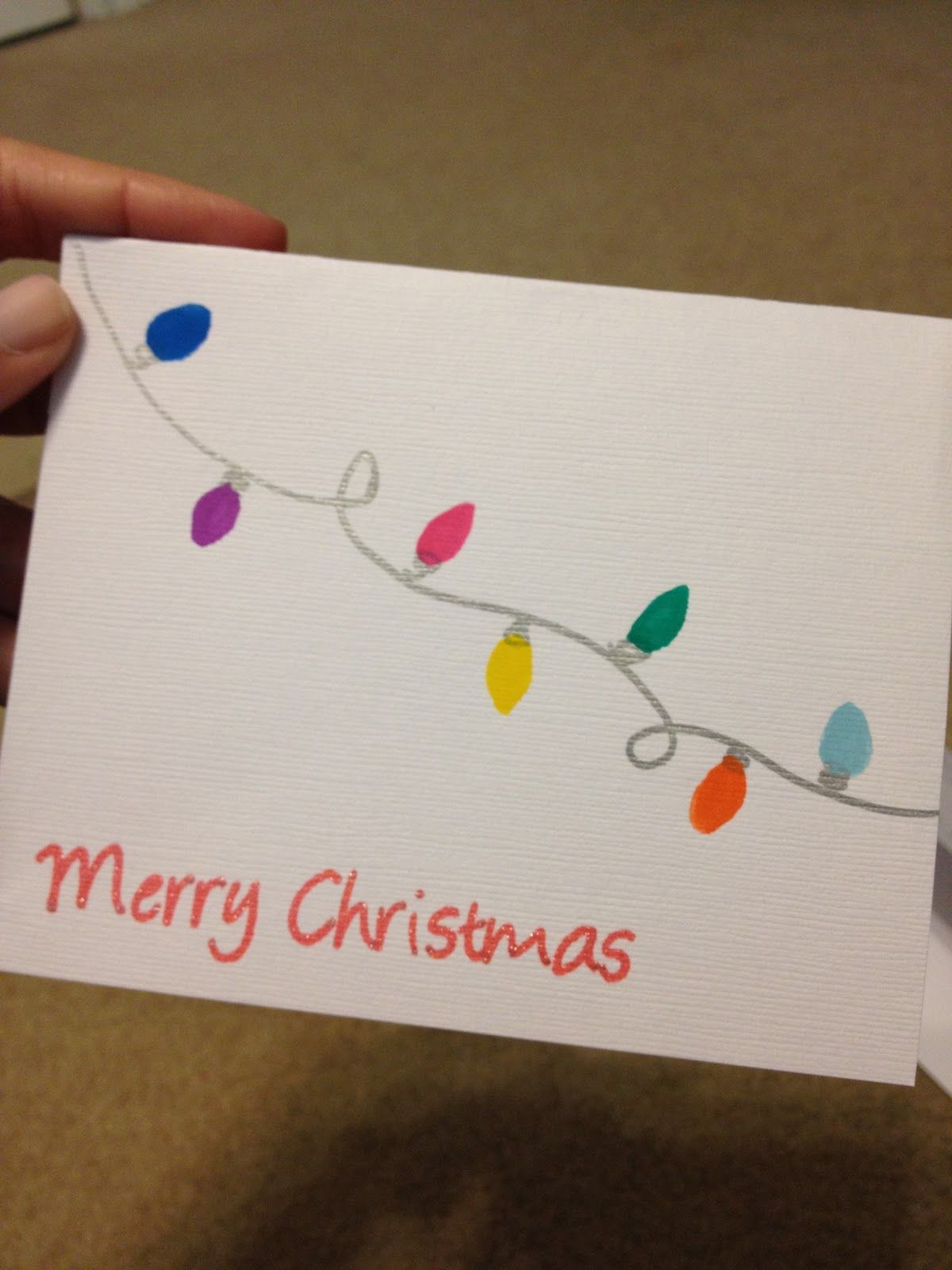 Easy Diy Christmas Cards.When I Went To Hallmark Yesterday To Grab My Christmas Cards