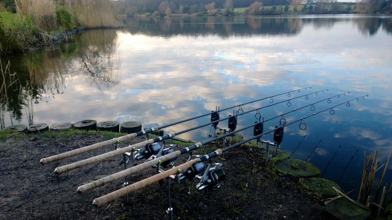 Check Out 4 Rod Carp Set Up Tackletrader Carp Fishing Carp Fishin