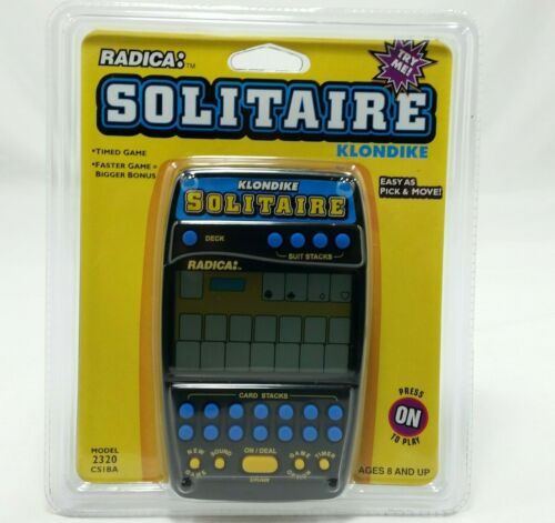 Radica Klondike 2320 Solitaire Electronic Handheld Card