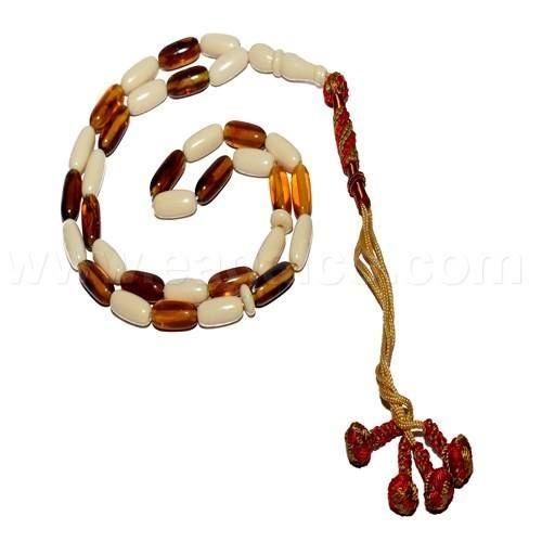 سبحة 33 حجر عظم مع تراب كهرمان زيتونه مقاس 10 ملم طول 32 سم الألوان قد تختلف قليلا بسبب التصوير تشحن داخل مغلف محمي سندلوس Leather Bracelet Bracelets Jewelry