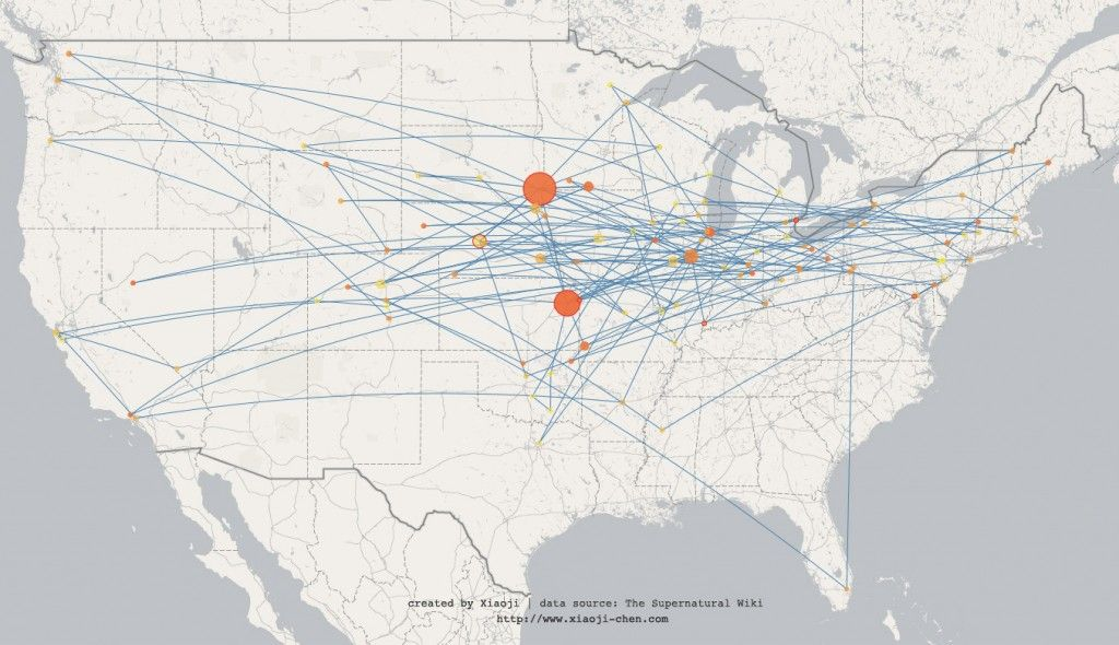 Interactive Map Of The States Winchesters Visited In Season
