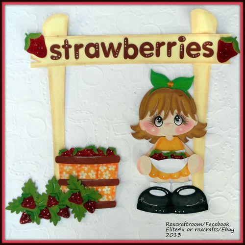 """Strawberries""  premade paper piecing..."