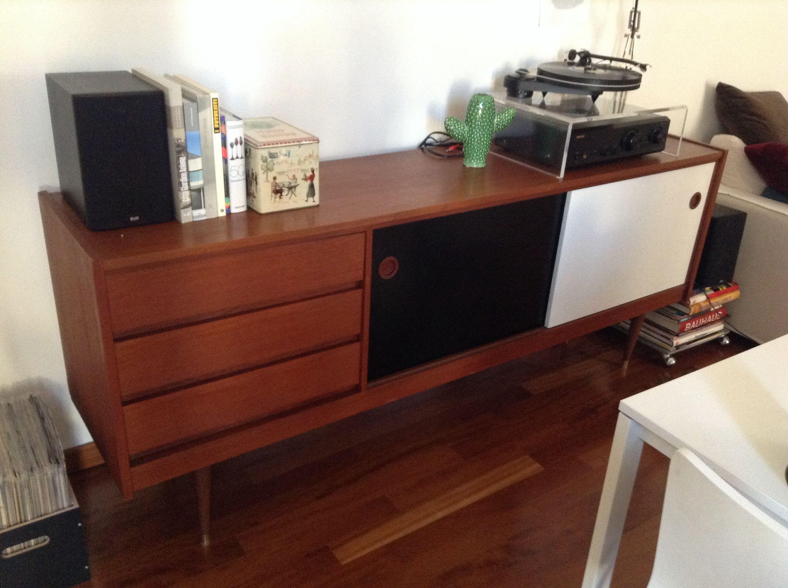 Danish vintage sideboard and music corner.. In progress!