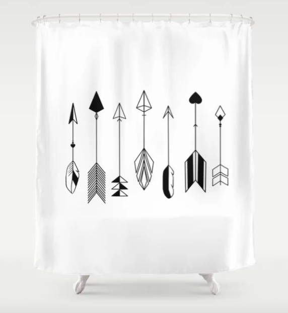 Arrow Art Black And White Black And White Bathroom Light Stop