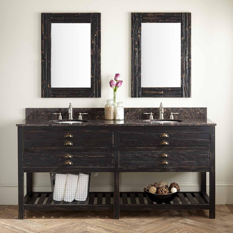 72 Benoist Reclaimed Wood Double Vanity For Undermount Sink