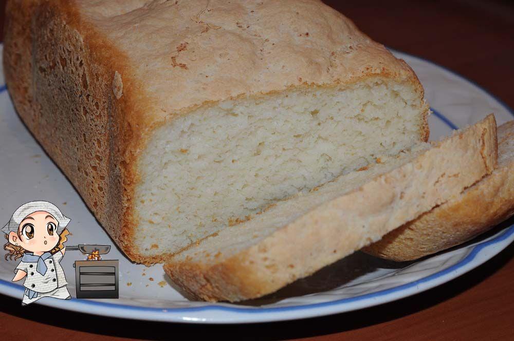 Pan de arroz sin gluten (panificadora Moulinex Home Bread ...