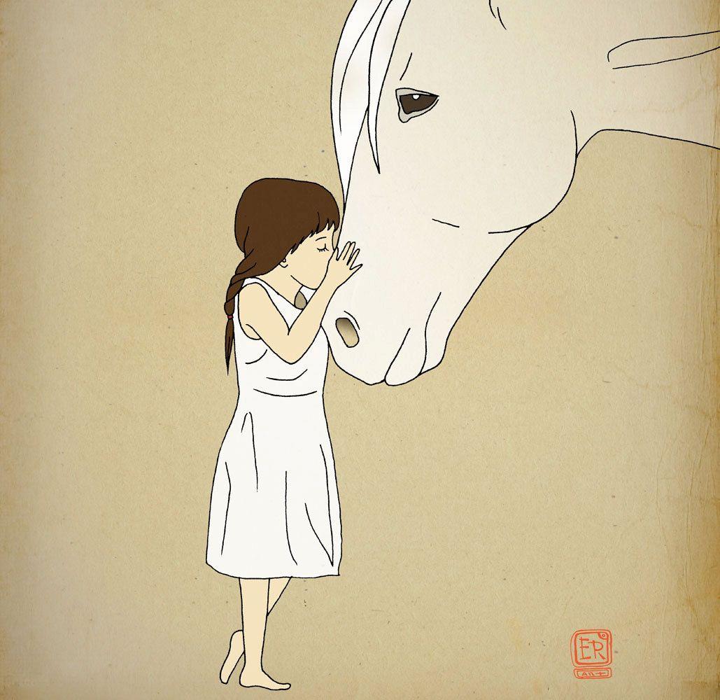 Horse Archival Art Print 12x16 nursery poster children room ...