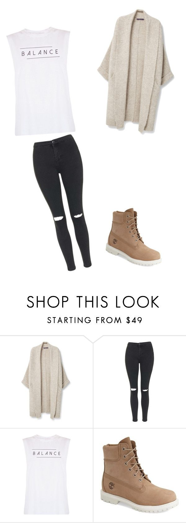 """""""Untitled #246"""" by eva011 ❤ liked on Polyvore featuring MANGO, Topshop, good hYOUman and Timberland"""