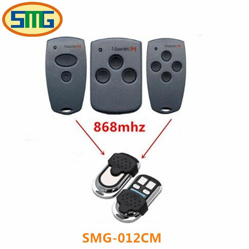 Universe Of Goods Buy 2pcs Free Shipping Marantec Digital Two Button 868 Mhz Garage Door Remote Control 12v Garage Door Remote Control Remote Control Remote