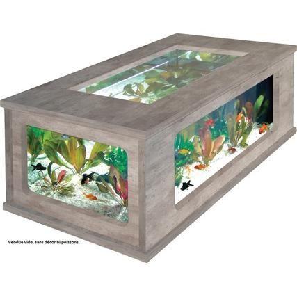 TABLE BASSE Aquatable 100x63 Aspect Béton ciré | VIVARIUMS ...