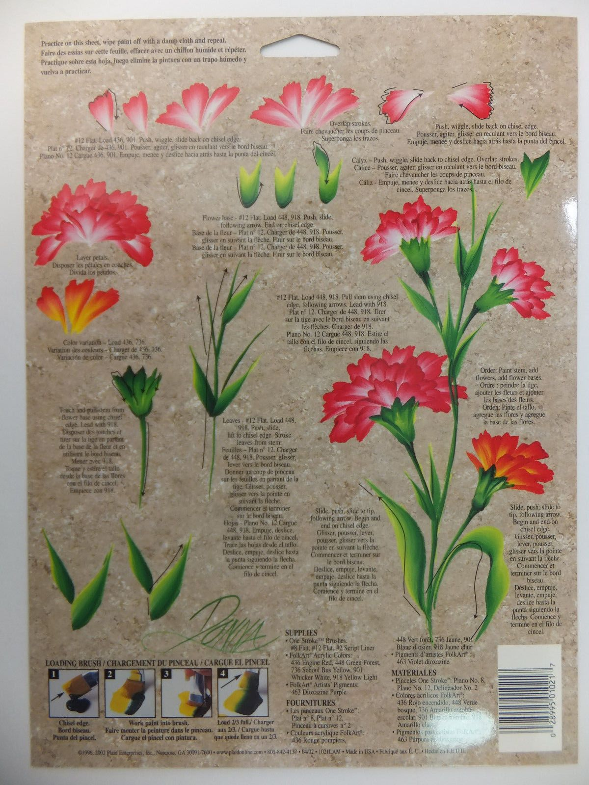 Donna Dewberry One Stroke Painting Rtg Worksheet Flowers