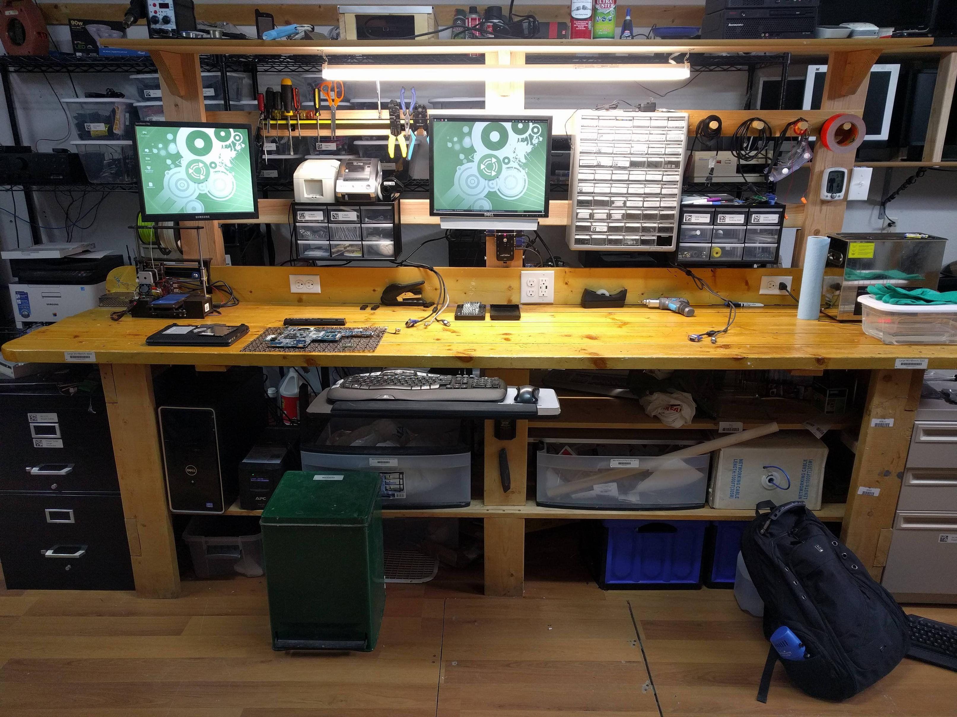 My Computer Repair Workbench Battlestations Computer Repair Workbench Computer Workbench Workbench