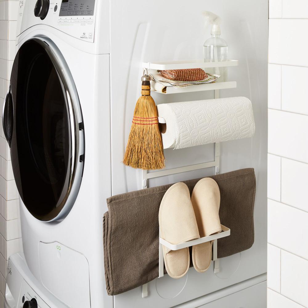Magnetic Washing Machine Organizing Rack Tiny Laundry Rooms Laundry Room Storage Washing Machine