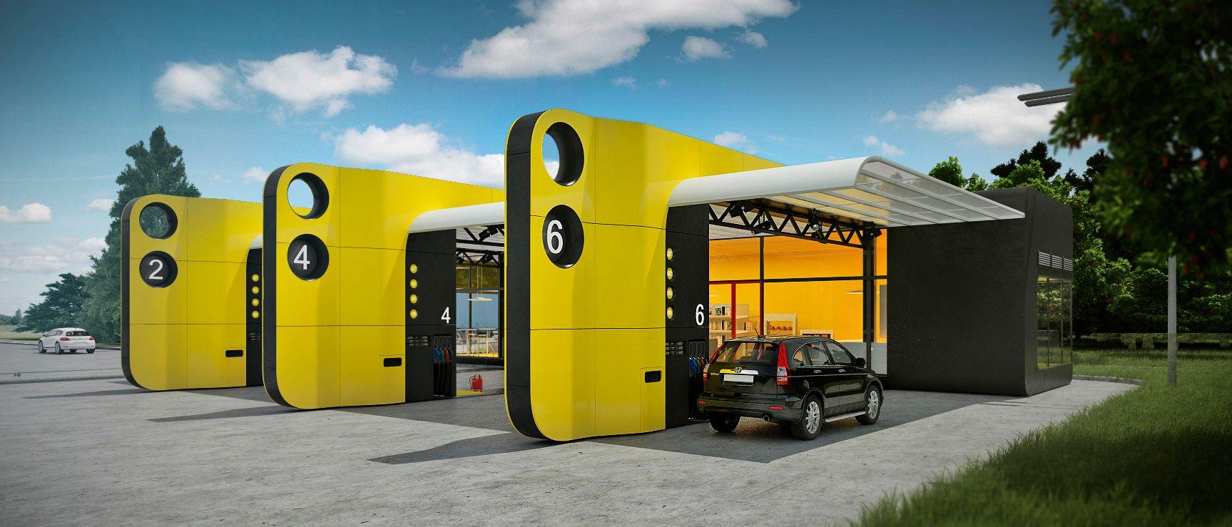"""다음 @Behance 프로젝트 확인: """"Gasoline stations""""…"""