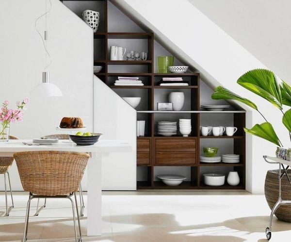22 Modern Innovative Staircase Ideas: Functional Modern-under-stairs-storage-ideas-modern Dining