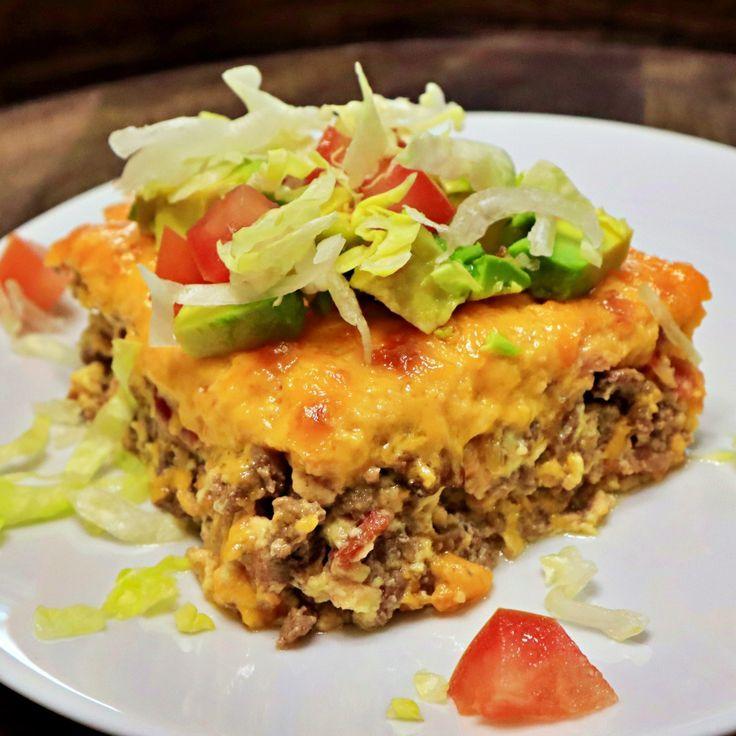 KETO BACON CHEESEBURGER CASSEROLE RECIPE #casserolerecipes