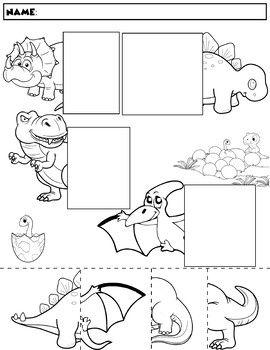 dinosaur color and match group 1 dinazaury pinterest preschool worksheets i dinosaur. Black Bedroom Furniture Sets. Home Design Ideas