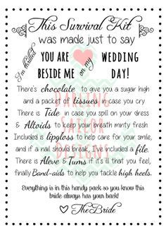 wedding day bathroom kit - Google Search | Decor | Pinterest | Wedding