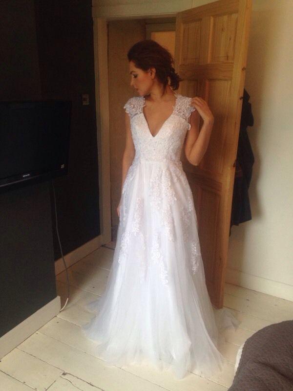 Stunning Lace Tulle Wedding Dress United Kingdom Gumtree Dresses Tulle Wedding Dress Elegant Dresses Short