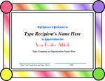Positive Attitude - Recognition Certificate. Visit http://www.ConfidenceCenter.com for free Employee Morale Boosters that create happy motivated employees. For downloadable Recognition Certificates visit http://www.EmployeeMoraleCenter.com