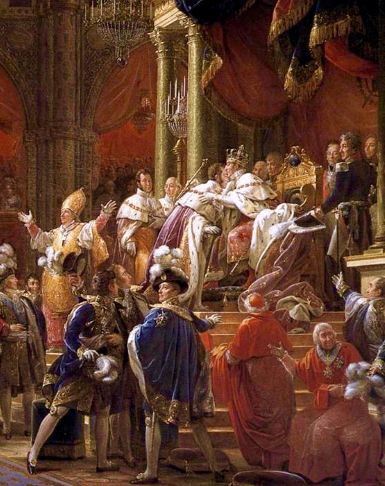 Coronación de Carlos X de Francia -El Conde de Artois ,hermano menor de Luis XVI,que reino muy poco.