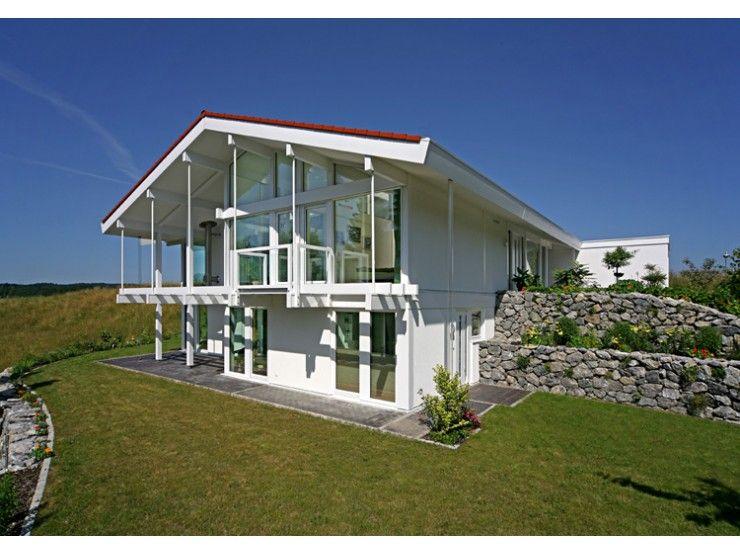 Fertighaus modern satteldach  Kundenhaus Dr. Marenbach - #Einfamilienhaus von DAVINCI HAUS GmbH ...