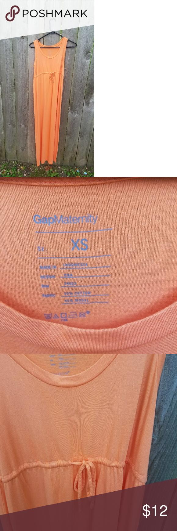 Gap maternity orange maxi dress ombrellifo Image collections