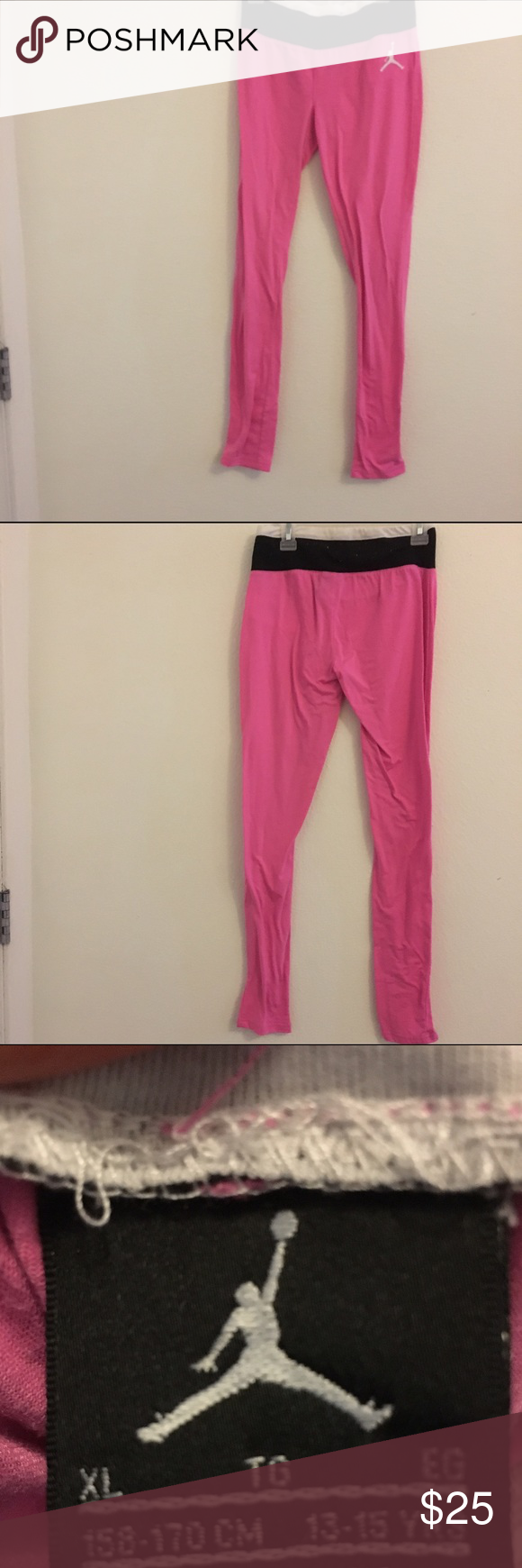 Pink Jordan legging! ((: I've only worn them twice so they are in great condition! Jordan Bottoms Leggings