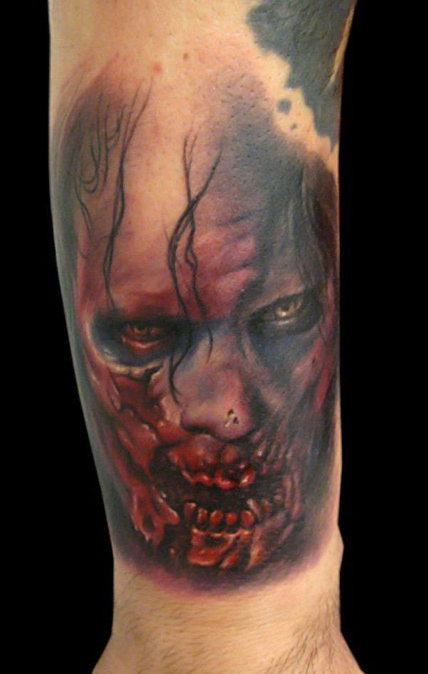 7160c4192 35 Horrible Zombie Tattoos | Zombies | Zombie tattoos, Tattoos ...