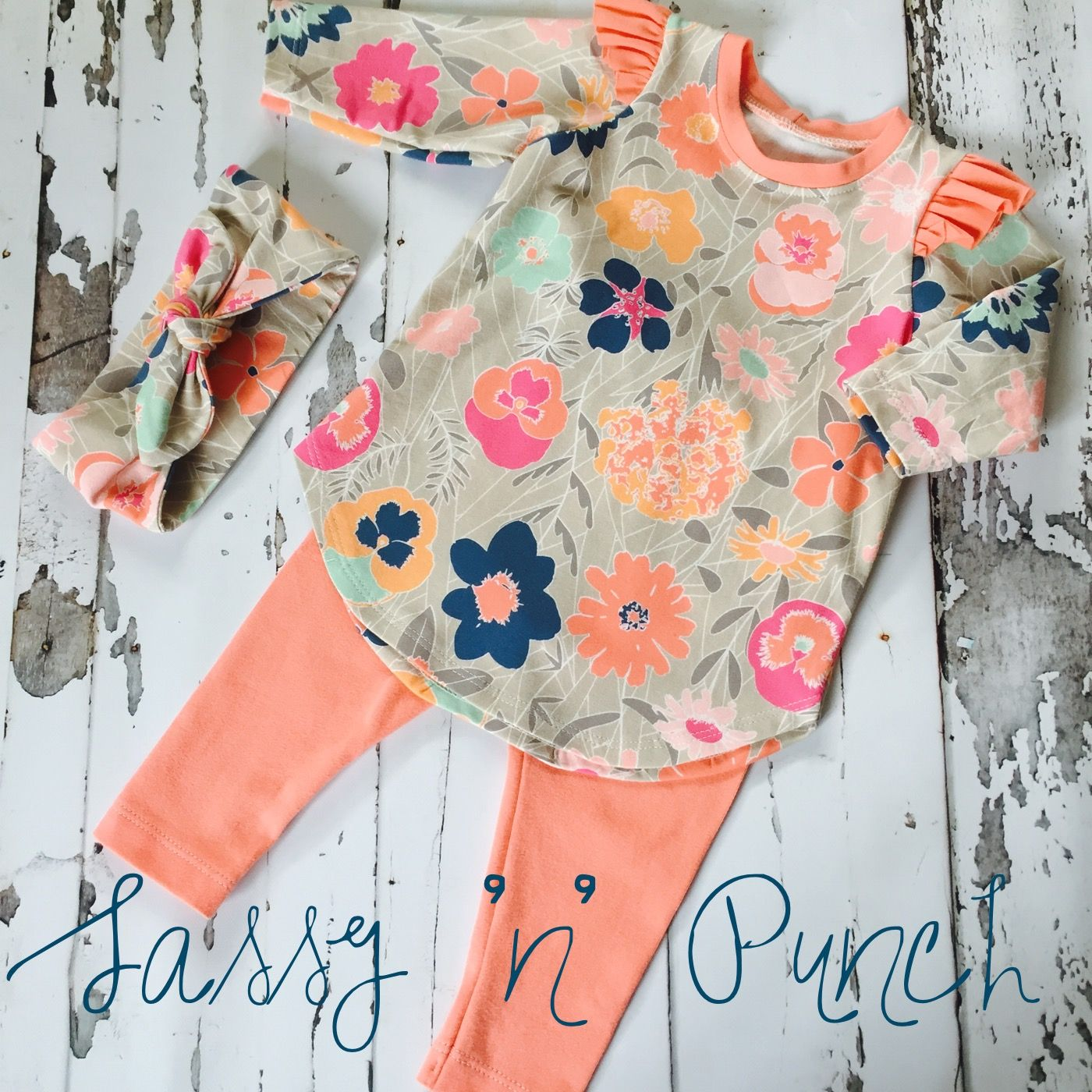 Brindille and Twig Flutter Sleeve Tunic and Leggings PDF