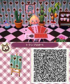 Alice In Wonderland Pattern Animal Crossing Animal Crossing Qr Qr Codes Animal Crossing
