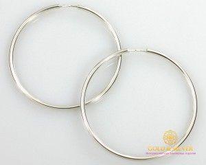 Серебряные Серьги Конго 60 мм. 9,8 грамма 2505