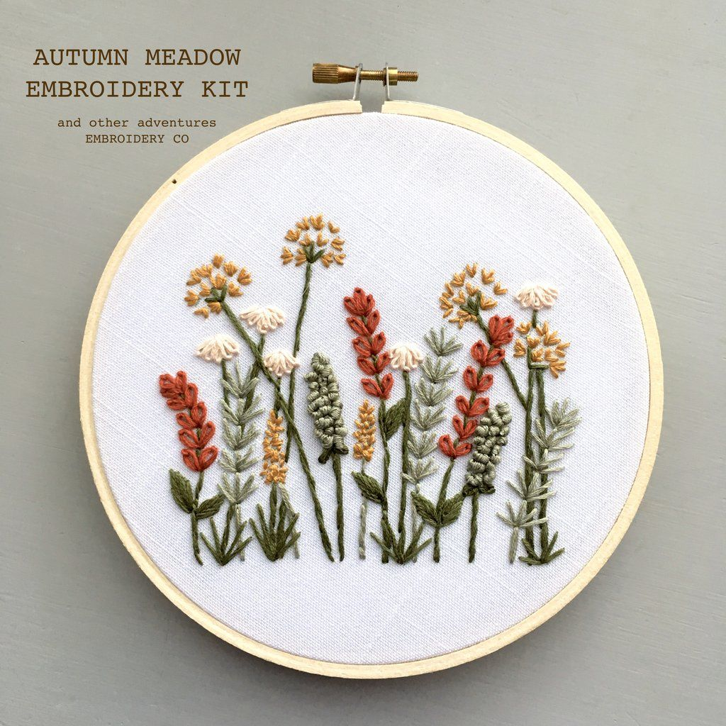 Hand Embroidery KIT – Autumn Meadow – Embroidery