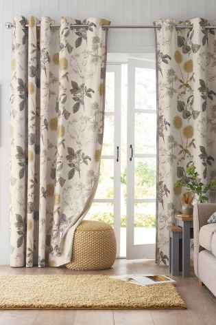 Buy Botanical Floral Print Eyelet Curtains From The Next UK Online Shop