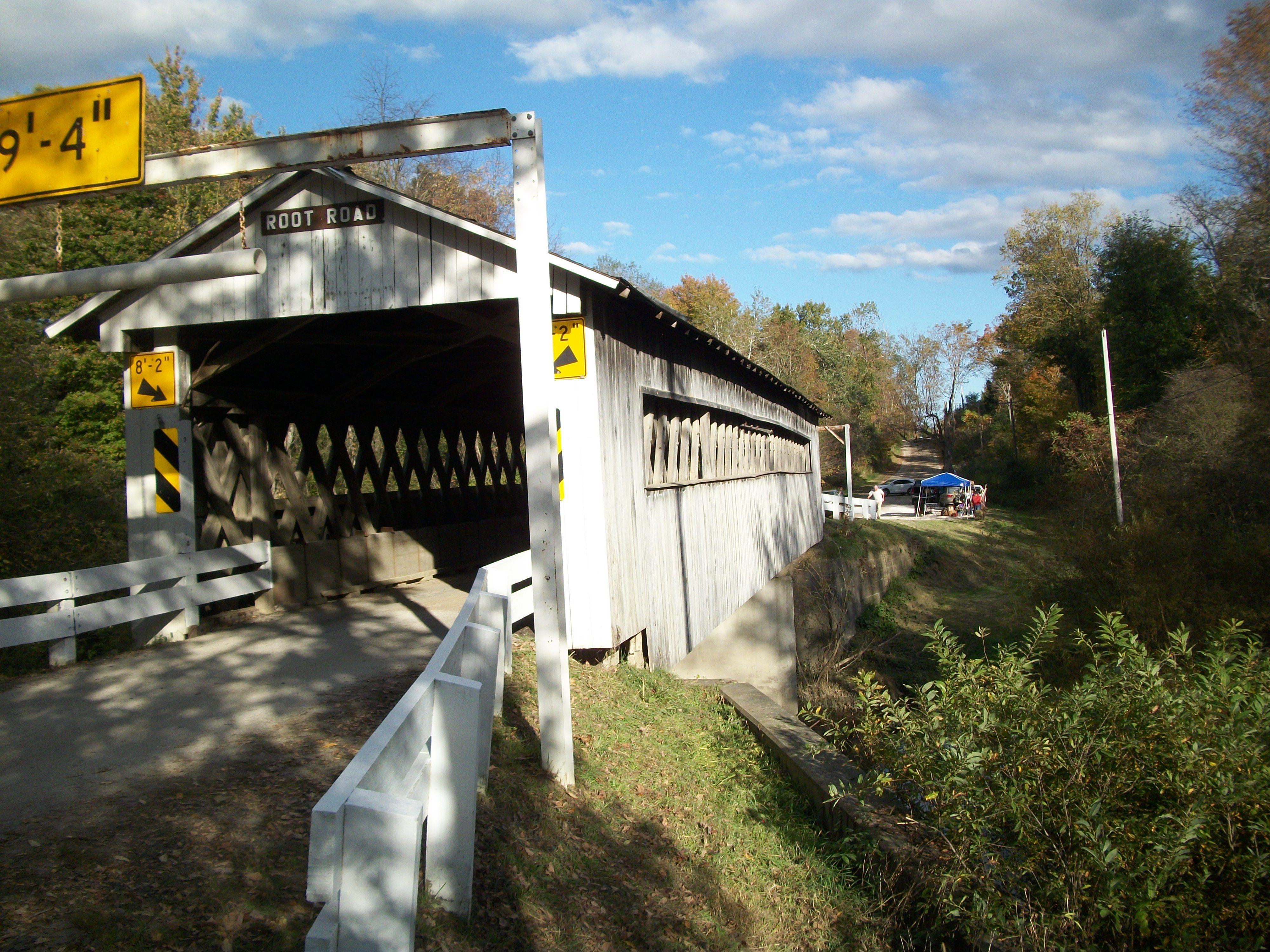 Ohio - Ashtabula County Covered Bridge Festival 2013 - The Root Rd. Bridge spans over the Ashtabula River