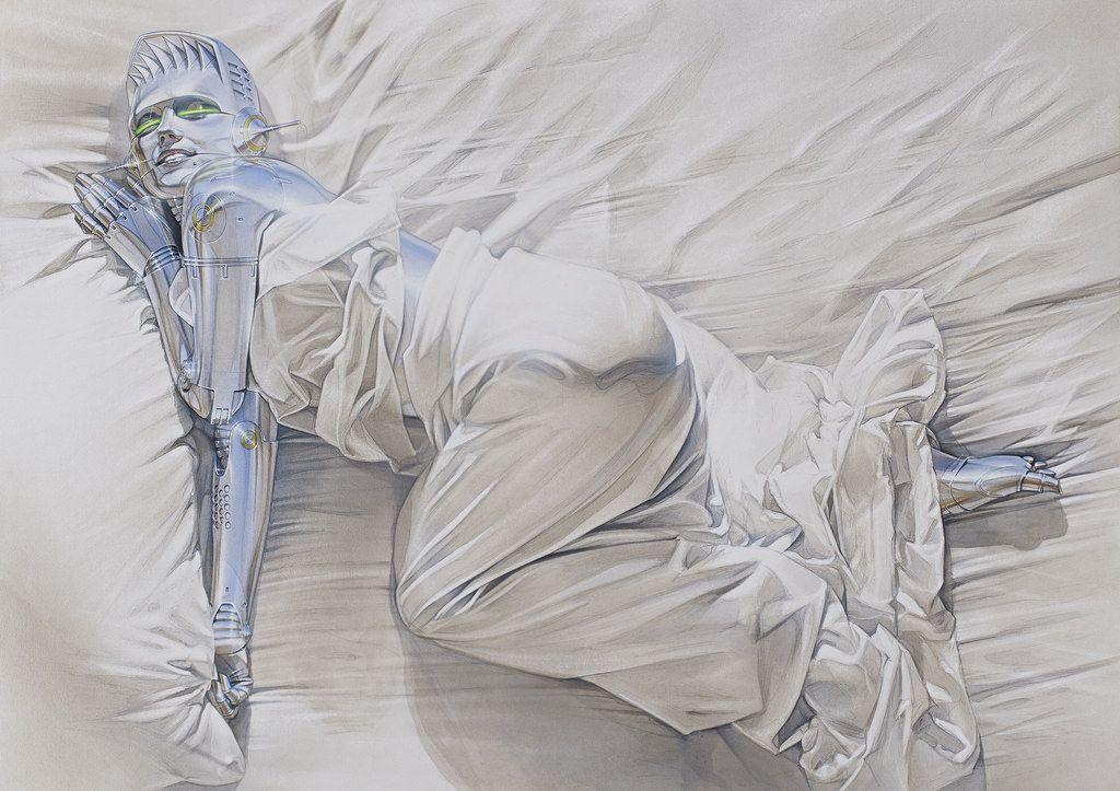 Hajime Sorayama's Futuristic Portrayals of Bio-mechanoid Women